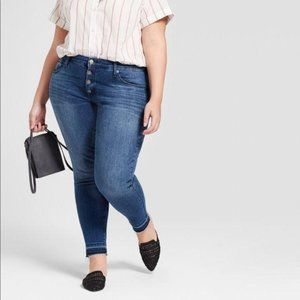 Universal Thread Button Fly Stretch Skinny Jeans